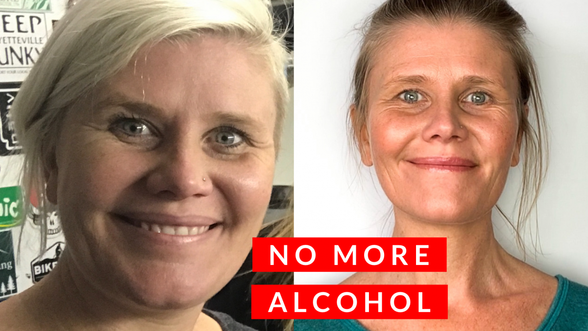 Before and after quitting alcohol